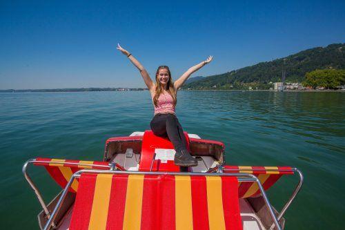 Gut möglich, dass Daria aus Feldkirch am Wochenende auf dem Tretboot Kapitän ist. VN/Steurer