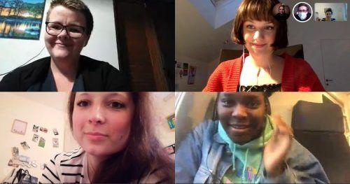 Im Gespräch: Theresia Gröchenig (oben l.), Anna Klinger (oben r.), Bianca Liebert (unten l.), Deborah Macauley (unten r.).