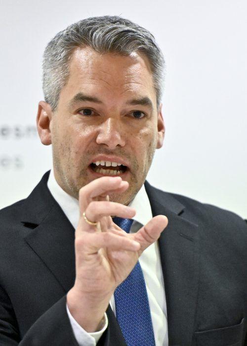 Innenminister Nehammer ermahnte am Montag die Stadt Wien.APA