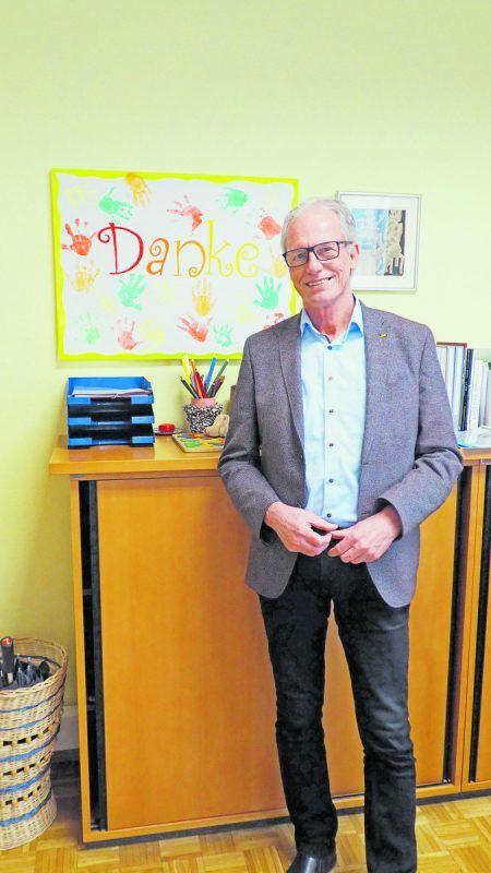 Langzeitbürgermeister Gottfried Brändle war mit einem Bein bereits im Ruhestand, als das Corona Virus in sozusagen zurück ins Amt holte.Christof EGLE