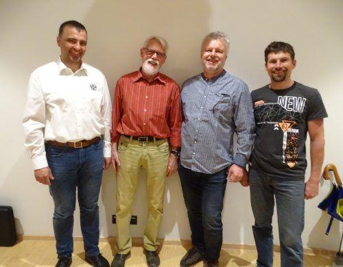 Obmann Karl-Heinz Fenkart (v. l.) mit Bernd Wehinger, Wolfgang Gächter und Werner Klien.the