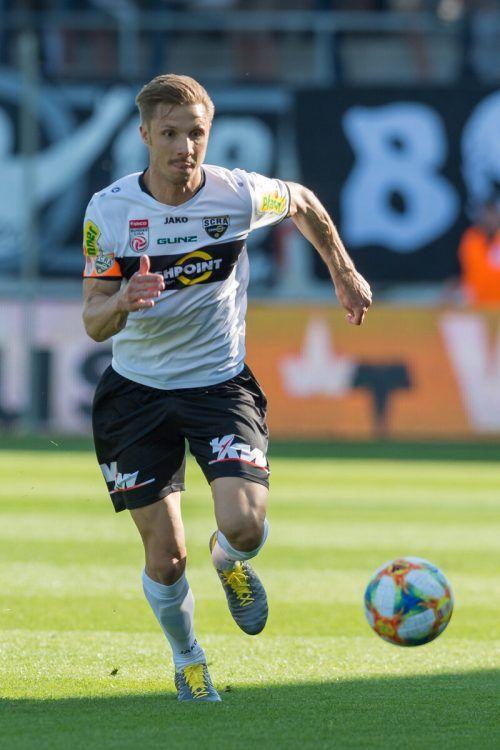 Philipp Netzer durfte nach langer Leidenszeit wieder im Altach-Dress auflaufen.gepa