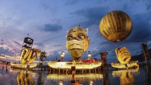 Sogar die Bregenzer Festspiele tragen in diesem Jahr Maske.vn/steurer