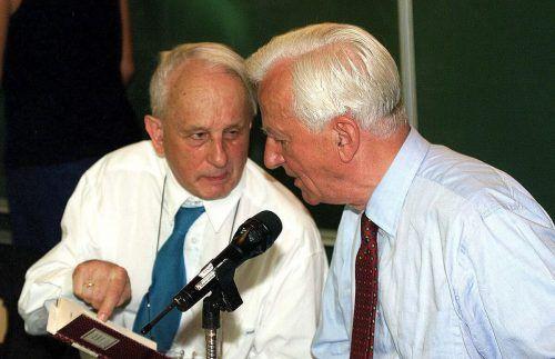 Rolf Hochhuth mit dem ehem. Bundespräsidenten Richard von Weizsäcker. APA