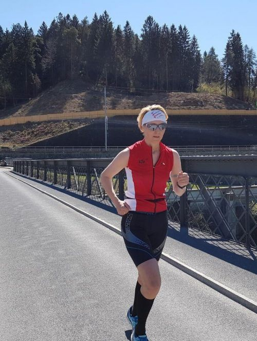 Sabine Bereuter vom LSV Feldkirch hat in den vergangenen Wochen einige Trainingskilometer gesammelt.Privat