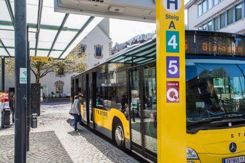 Seit Montag gilt für Busse werktags der Ferienfahrplan.VN/STEURER