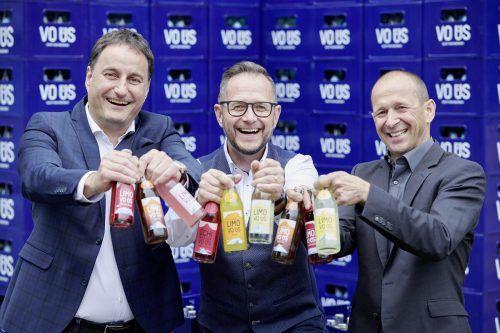 """""""VO ÜS""""-Team: Geschäftsführer Thomas Pachole (Mohren), Projektleiter Philipp Wüstner und Geschäftsführer Kurt Michelini (Frastanzer).Marcel Hagen"""