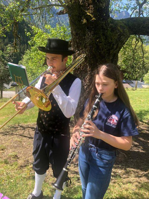 Zwei junge Vertreter der StadtmusikBludenz steuerten ihren Part bei. VBV
