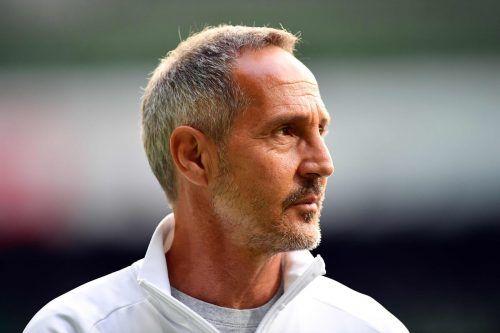Adi Hütter hat mit seinem Team weiter die Europa League im Visier.afp