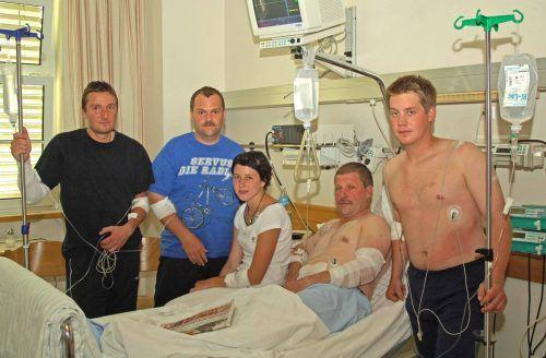 Alle fünf Blitzopfer wurden im Krankenhaus Bludenz behandelt.