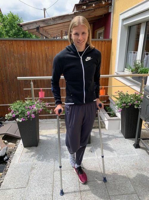 Bei Verena Preiner ist eine alte Verletzung im Sprunggelenk akut geworden.Apa