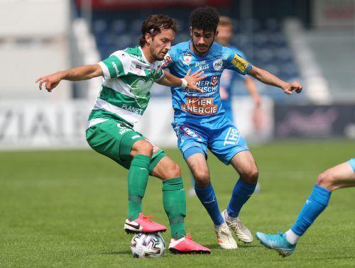 Bojan Avramovic und Co. hatten gegen den FAC in Wien nicht den besten Tag und mussten eine 1:2-Niederlage einstecken.gepa