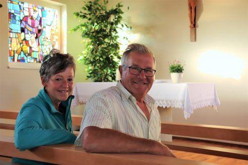 Brigitte und Egon Winder engagieren sich für die Erhaltung der Kapelle in der Parzelle Baumgarten.