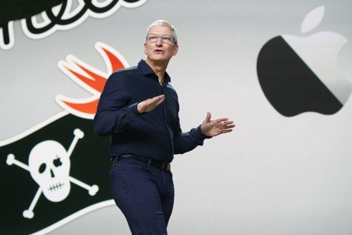CEO Tim Cook war der Keynote-Speaker auf der Apple-Entwicklerkonferenz und stellte die Pläne des Konzerns vor.ap