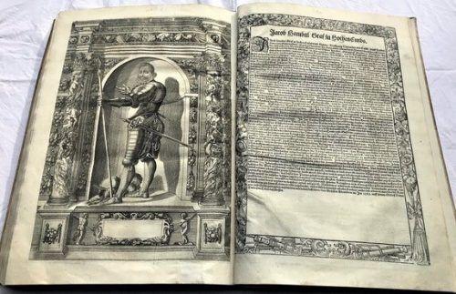 """Das """"Armamentarium Heroicum"""" aus dem Jahr 1603. Vorarlberger Privatsammlung"""