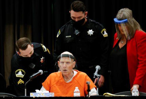 Der Ex-Polizist wurde in einem Rollstuhl in den Gerichtssaal gefahren. Reuters