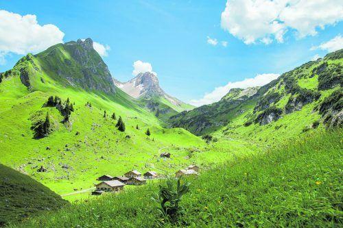 Die Alpe Laguz im Großen Walsertal.Dietmar Walser