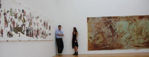 Die Bregenzerin Sophie Thelen und der Deutsche Christian Macketanz in der Galerie allerArt. A. Grabher