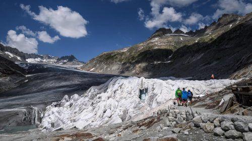 Die Gletscher schmelzen in rasantem Tempo überall in den Alpen. In der Schweiz geht es besonders schnell.AFP
