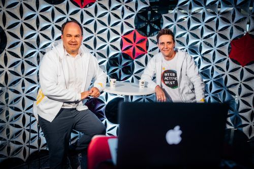 Die Gründer der Interactive West: Gerold Riedmann und Georg Burtscher. sams