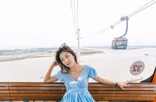 Die Seilbahn auf die vietnamesische Insel Cat Ba begeistert die Passagiere dank der fast 215 Meter hohen Stütze. Sun World Cat Ba Cable Car