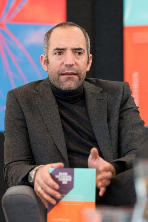 """Edgar Eller geht als Leiter des Stadtmarketings und übernimmt neue Abteilung """"Forschung und Entwicklung"""". VN/Stiplovsek"""