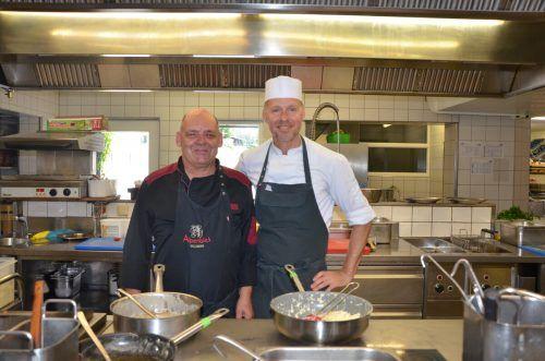 Ein gutes Team: Franz Werner Müller (l.) mit Alpenblick-Chef Christian Gieselbrecht. VN