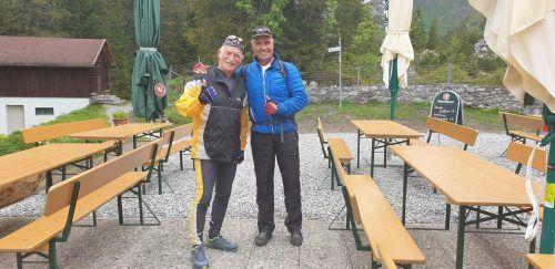 Ernst Tschofen und Robert Fleisch aus Schruns sind per Bike angekommen.