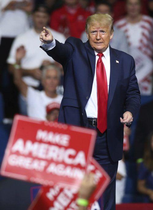 Es kamen nicht so viele Anhänger des Präsidenten wie erwartet. AP