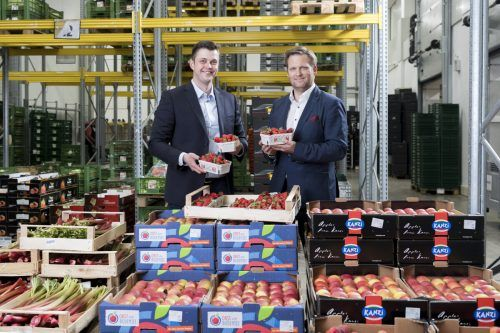 Fruchtbox Express mit den Geschäftsführern Felix Grabher und Markus Goop. FA