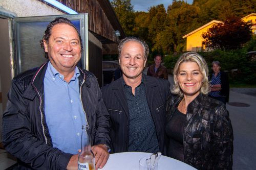 Günther Stark, Jürgen Kaufmann und Evelyn.