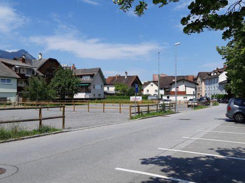 In Bludenz sind (vorübergehend) neue Parkflächen angelegt worden. Stadt