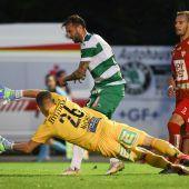 """<p class=""""caption"""">In dieser Aktion erzielte Lukas Katnik den Treffer zum 1:1 beim GAK für Austria Lustenau.gepa</p>"""