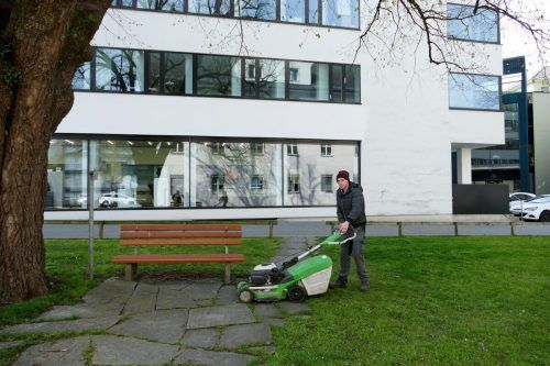Jugendliche der Jugendwerkstätten unterstützen auch bei Garten- und Verschönerungsarbeiten. djw