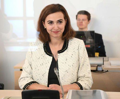 Justizministerin Zadic stand den Abgeordneten Rede und Antwort. APA