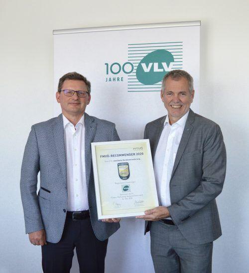 """Klaus Himmelreich und Robert Sturn konnten den """"Recommender Award"""" entgegennehmen."""