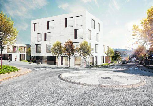 Neubau am Kreisverkehr soll bereits im Mai 2022 bezugsfertig sein.