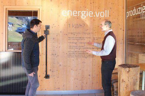 Neue Ökostrom-Ausstellung im Biosphärenparkhaus. A. RindererGemeinde