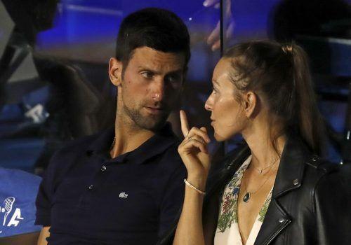 Novak Djokovic und seine Ehefrau Jelena sind positiv getestet worden.ap