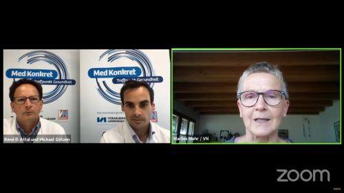 René El Attal (l.) und Michael Götzen hatten für die vielen MedKonkret-Interessierten einen spannenden und aufschlussreichen Vortrag vorbereitet. vn/rauch