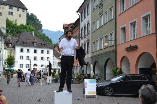 Schauspieler Anwar Kashlan in der Feldkircher Neustadt. BI