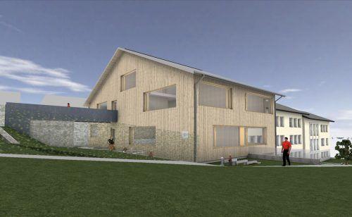 So soll die neue Bildungseinrichtung nach der Fertigstellung im Herbst 2021 ausschauen.gemeinde