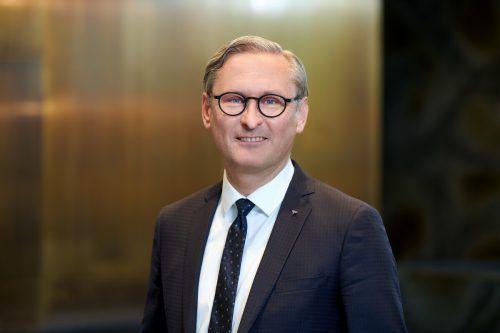 """Volksbank-CEO Gerhard Hamel: """"Positiver Beitrag für die Zukunft."""" FA/Hagen"""