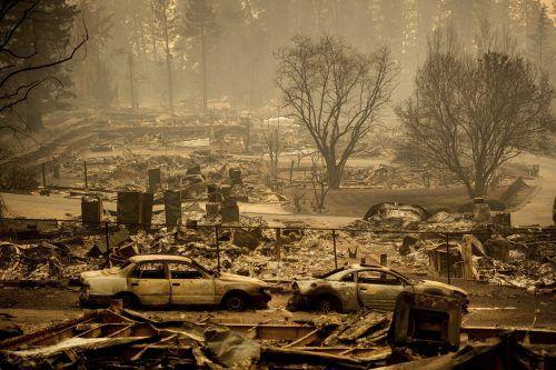 Waldbrände haben im November 2018 fast die ganze Ortschaft Paradise zerstört. AP