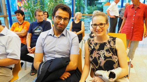 Yunus und Nicole waren vom Benefizkonzert begeistert.