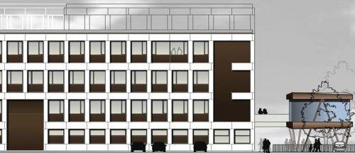 Auf 3500 Quadratmetern baut Firmengründer Martin Eberle sein neues Unternehmen. Rechts vom Hauptgebäude befindet sich die Zukunftsfabrik. FA