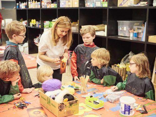 """Bei """"Kunst kennt keine Grenzen"""" können Kinder eigene Kunstwerke gestalten. KUB"""