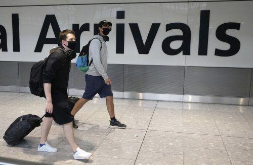 Britische Urlauber müssen sich nach der Rückkehr in Quarantäne begeben.AP