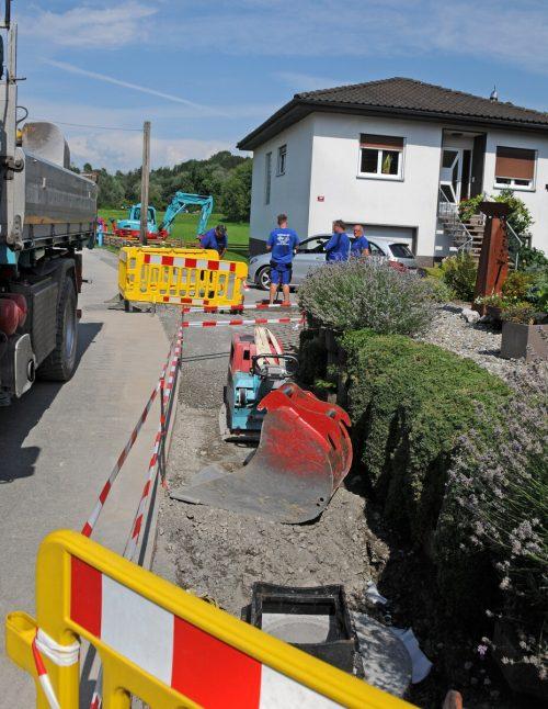 Die Anfang Juli beschlossene Wasserableitung wurde bereits errichtet. AJK