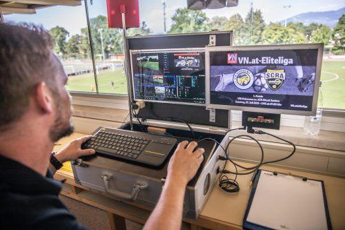 Die Technik für die Liveübertragungen in der Eliteliga stellt Ländle-TV zur Verfügung.VN/SAMS